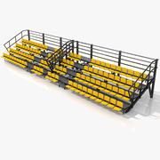 Demontable Metallic Tribune Stand 3d model