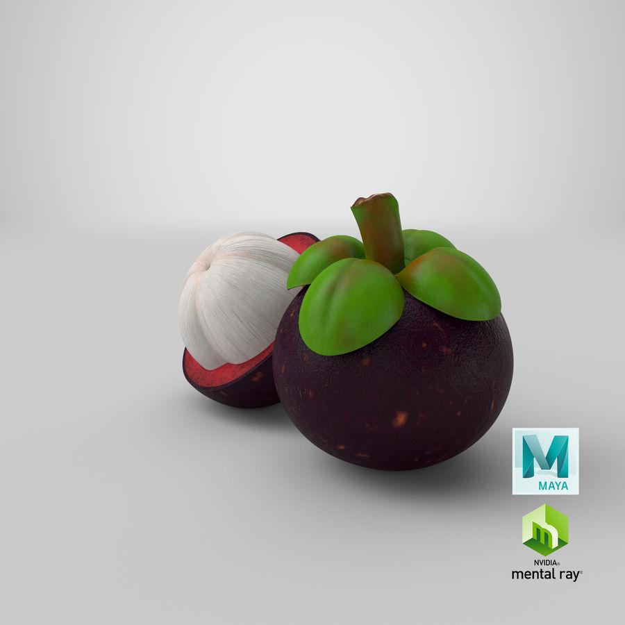 Мангостин royalty-free 3d model - Preview no. 35