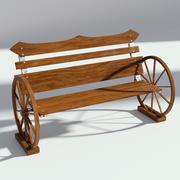 Tezgah bağbozumu tekerlekler 3d model
