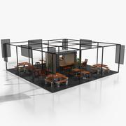 Behållarkaffe med terrass 3d model