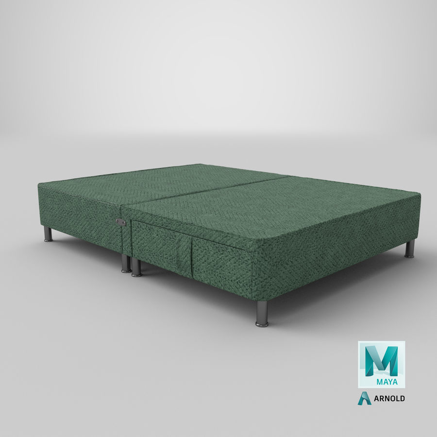 Bed Base 06 Mint royalty-free 3d model - Preview no. 25