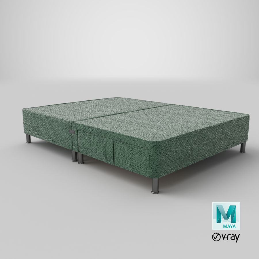Bed Base 06 Mint royalty-free 3d model - Preview no. 27