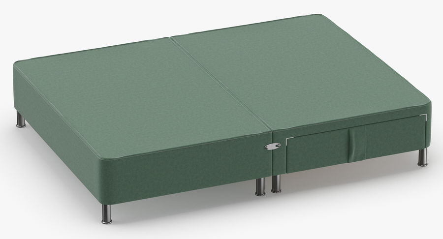 Bed Base 06 Mint royalty-free 3d model - Preview no. 3