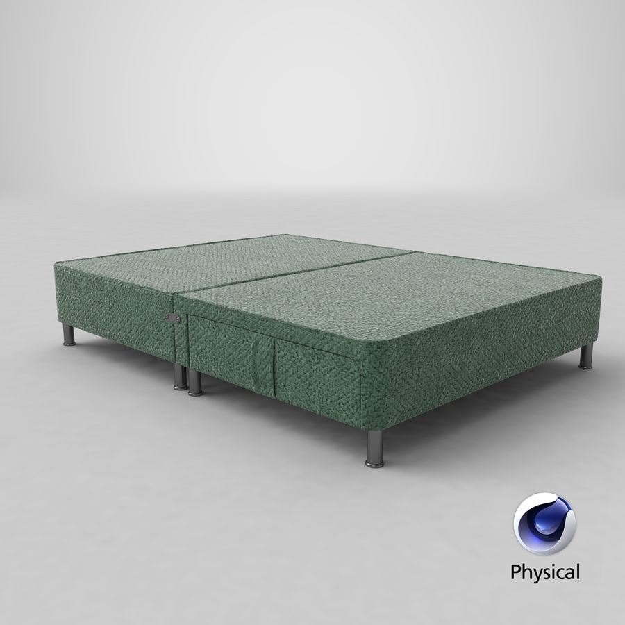 Bed Base 06 Mint royalty-free 3d model - Preview no. 20
