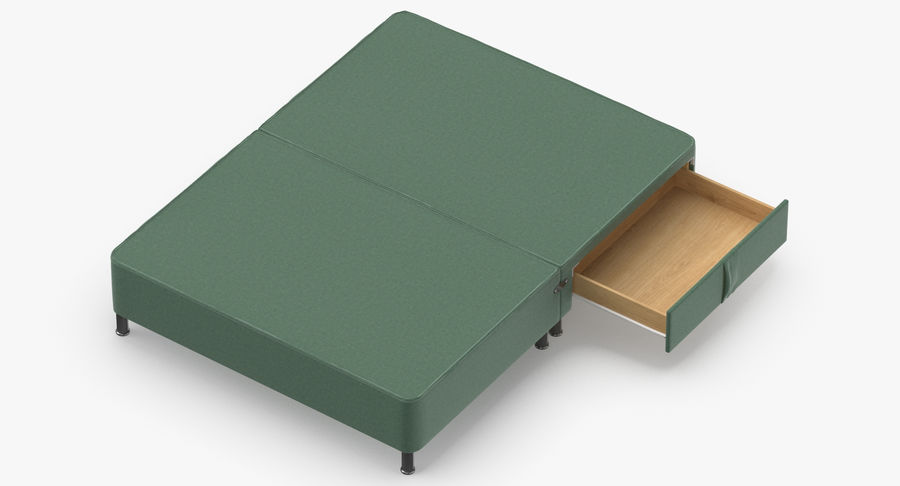 Bed Base 06 Mint royalty-free 3d model - Preview no. 7