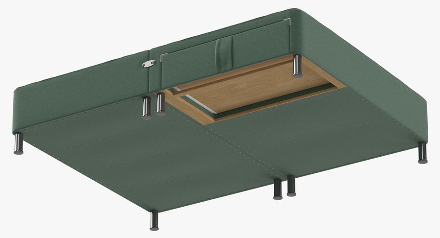 Bed Base 06 Mint royalty-free 3d model - Preview no. 9