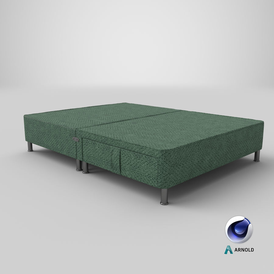 Bed Base 06 Mint royalty-free 3d model - Preview no. 21