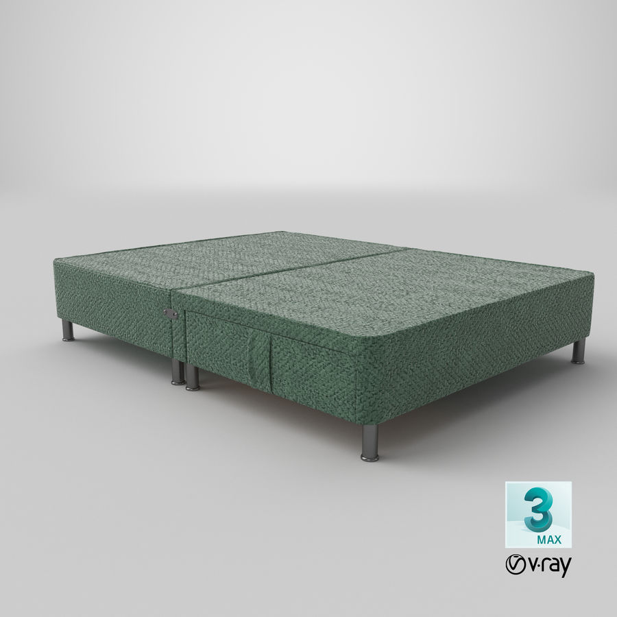 Bed Base 06 Mint royalty-free 3d model - Preview no. 24
