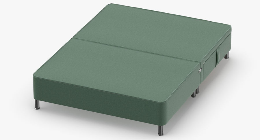 Bed Base 06 Mint royalty-free 3d model - Preview no. 4