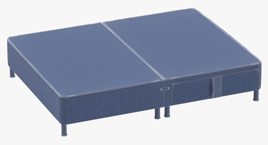 Bed Base 06 Mint royalty-free 3d model - Preview no. 10