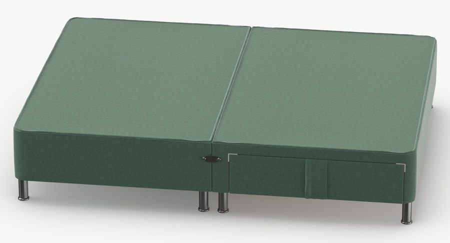 Bed Base 06 Mint royalty-free 3d model - Preview no. 5
