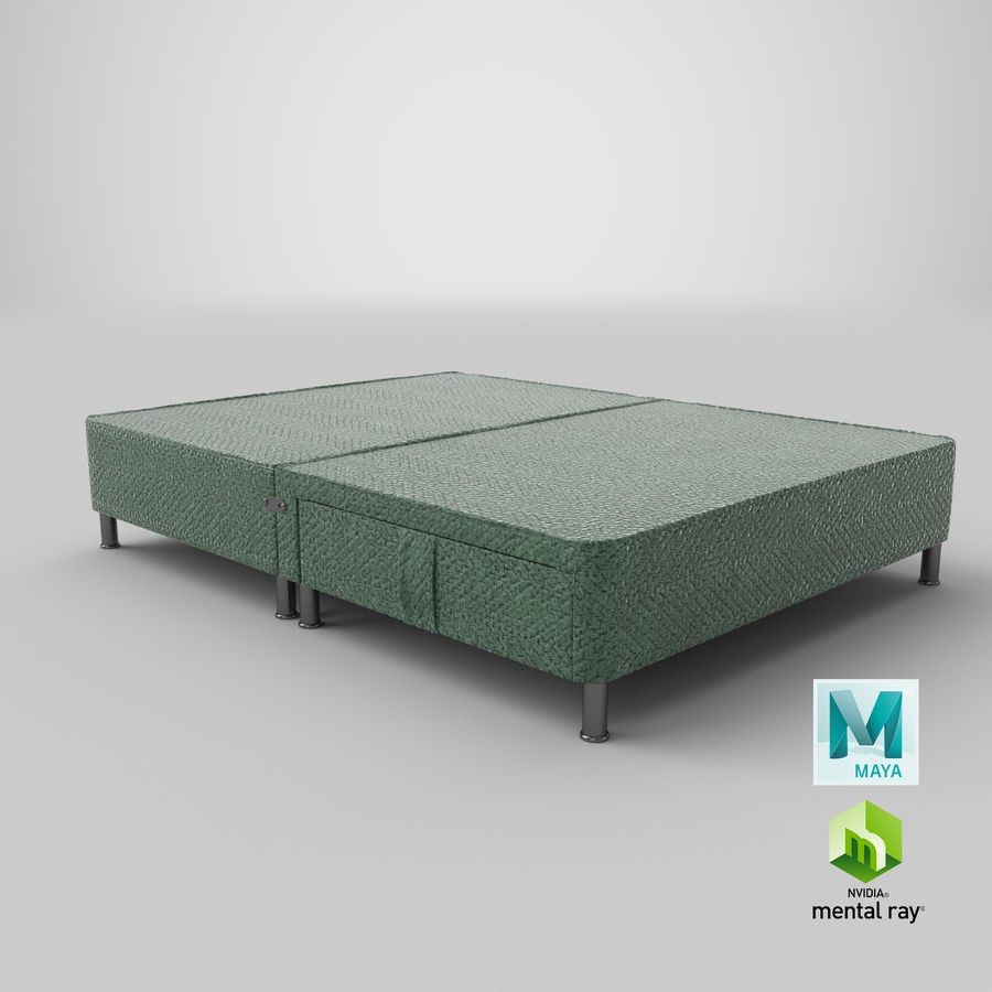 Bed Base 06 Mint royalty-free 3d model - Preview no. 26