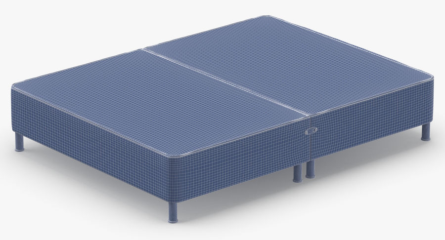 Bed Base 06 Mint royalty-free 3d model - Preview no. 14