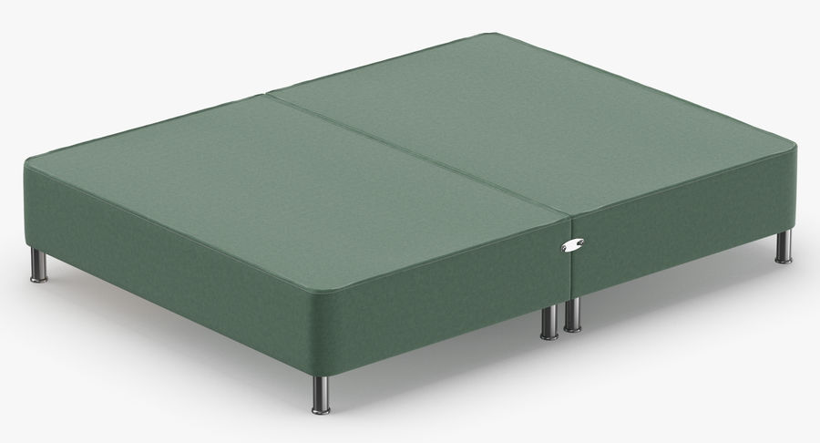 Bed Base 06 Mint royalty-free 3d model - Preview no. 6