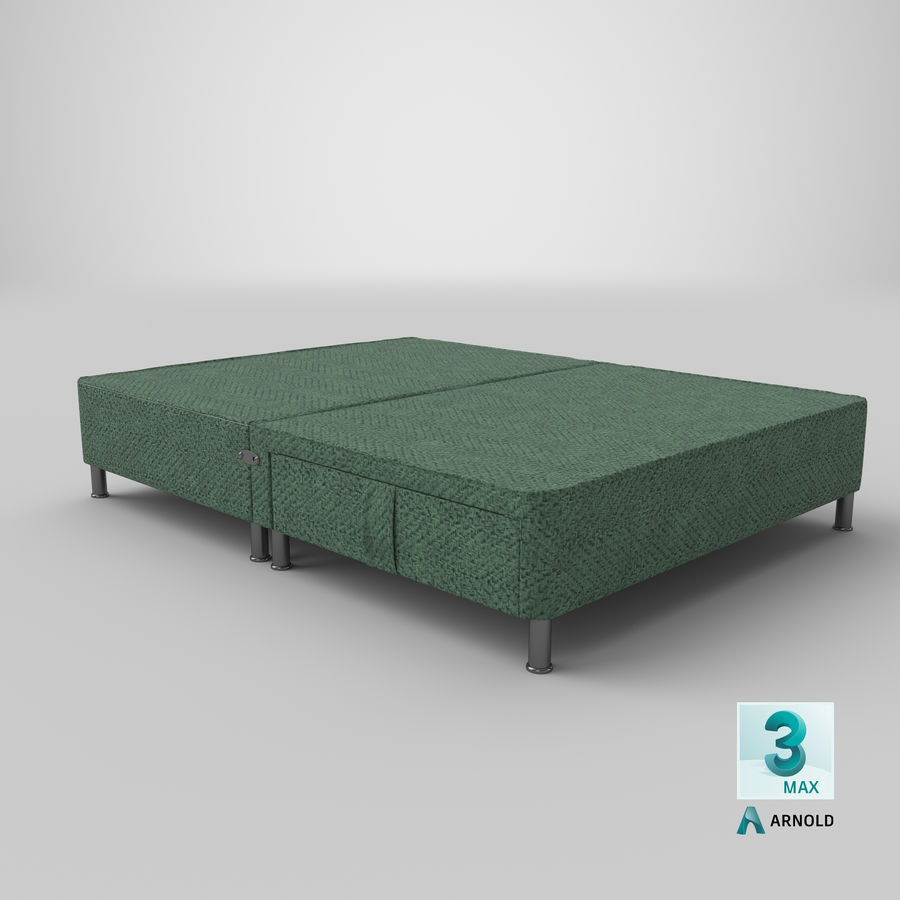 Bed Base 06 Mint royalty-free 3d model - Preview no. 22