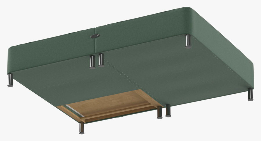 Bed Base 06 Mint royalty-free 3d model - Preview no. 8