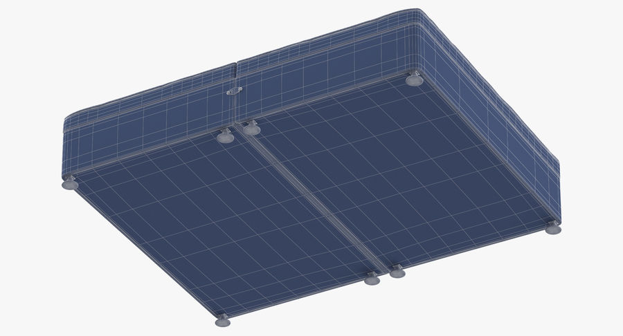 Bed Base 07 Blush royalty-free 3d model - Preview no. 16