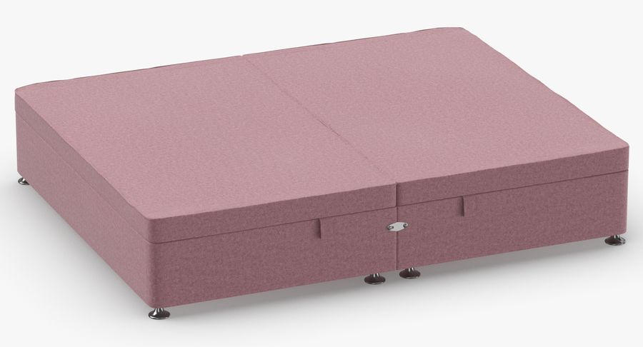 Bed Base 07 Blush royalty-free 3d model - Preview no. 3