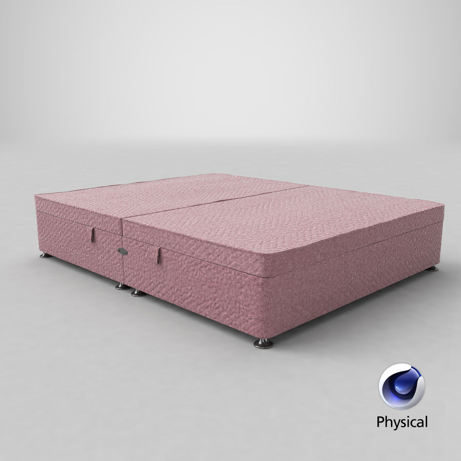 Bed Base 07 Blush royalty-free 3d model - Preview no. 21