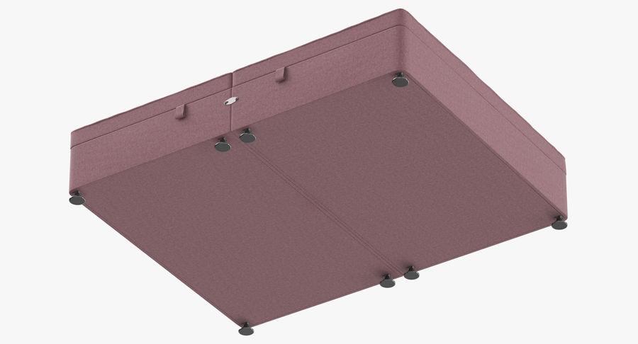 Bed Base 07 Blush royalty-free 3d model - Preview no. 9
