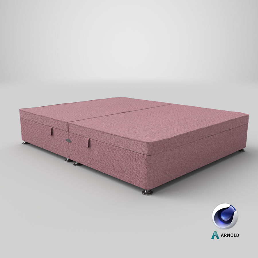 Bed Base 07 Blush royalty-free 3d model - Preview no. 22