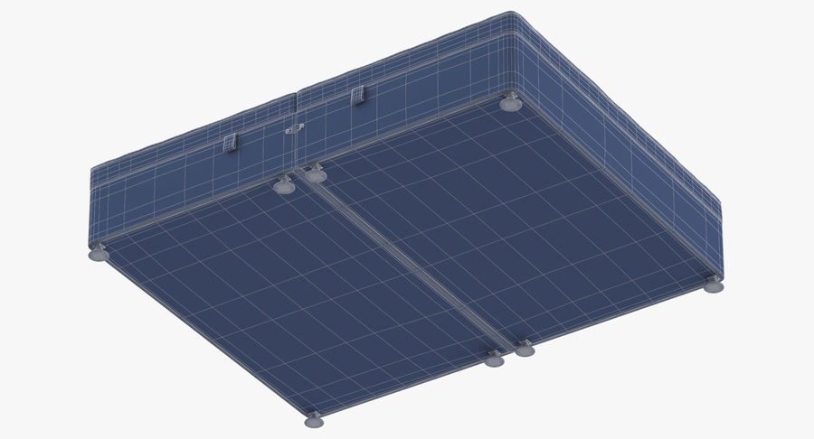 Bed Base 07 Blush royalty-free 3d model - Preview no. 17