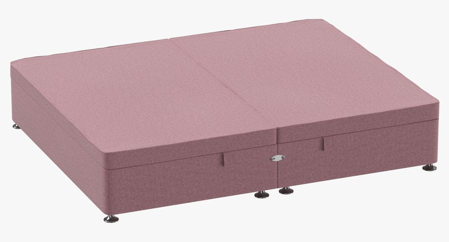 Bed Base 07 Blush royalty-free 3d model - Preview no. 2