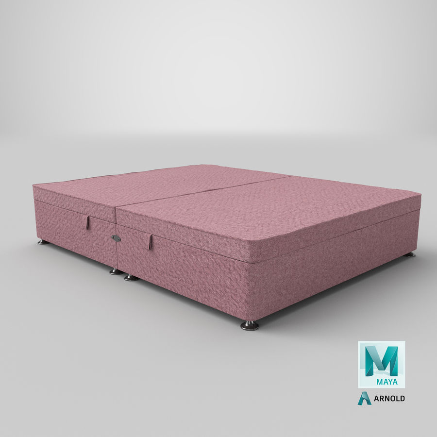 Bed Base 07 Blush royalty-free 3d model - Preview no. 26
