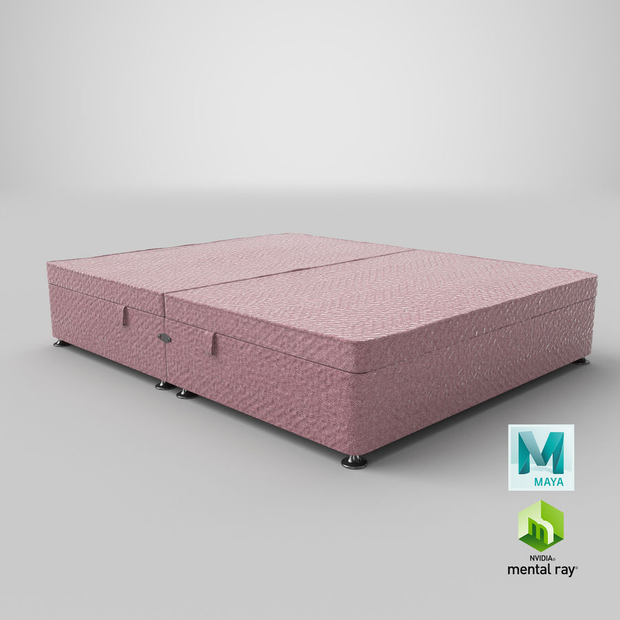 Bed Base 07 Blush royalty-free 3d model - Preview no. 27