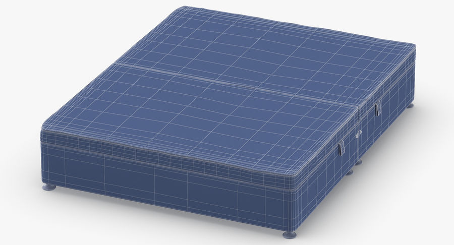 Bed Base 07 Blush royalty-free 3d model - Preview no. 12