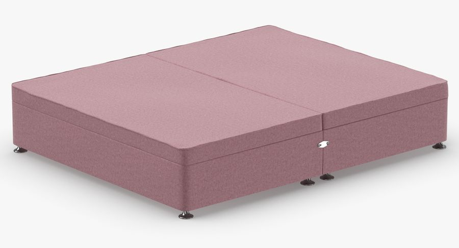 Bed Base 07 Blush royalty-free 3d model - Preview no. 6