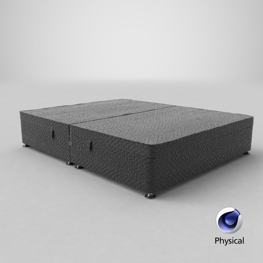 Bed Base 07 Charcoal royalty-free 3d model - Preview no. 11