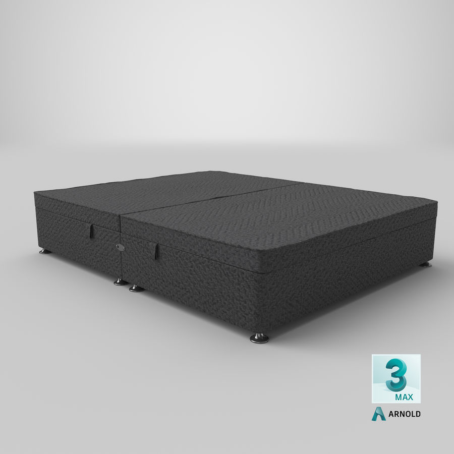 Bed Base 07 Charcoal royalty-free 3d model - Preview no. 13
