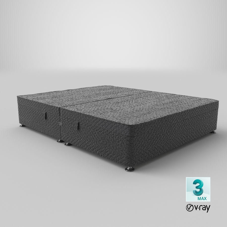 Bed Base 07 Charcoal royalty-free 3d model - Preview no. 25