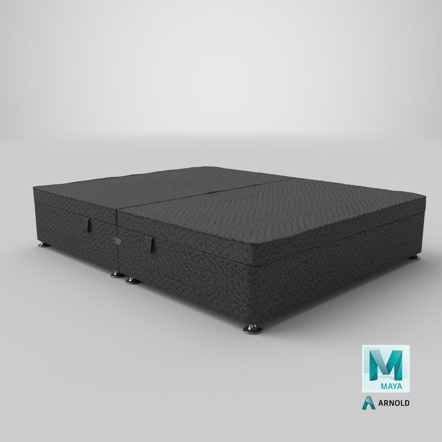 Bed Base 07 Charcoal royalty-free 3d model - Preview no. 16