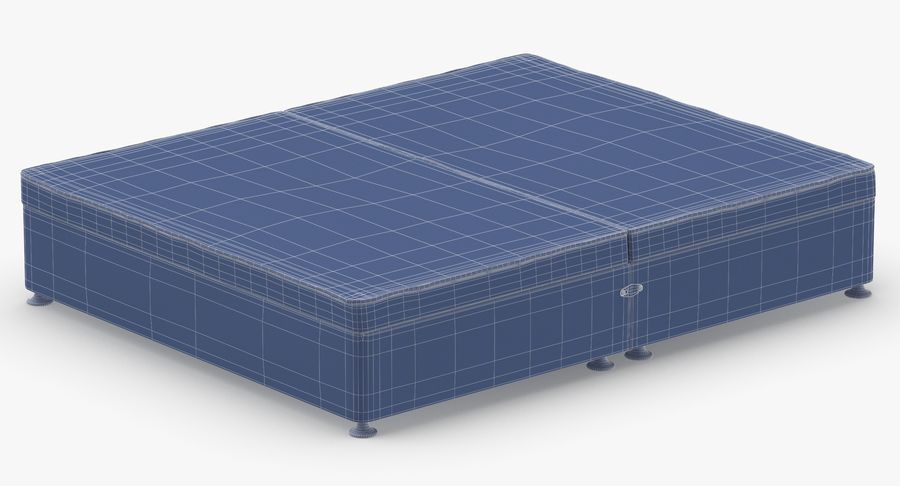 Bed Base 07 Charcoal royalty-free 3d model - Preview no. 15