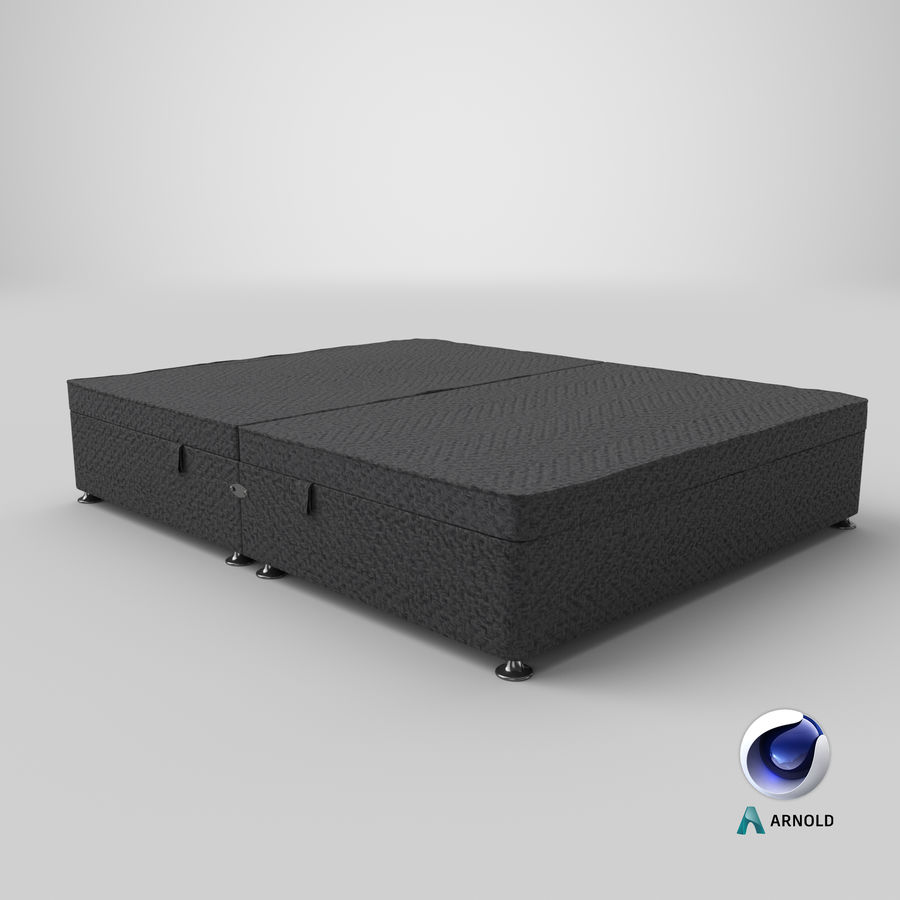 Bed Base 07 Charcoal royalty-free 3d model - Preview no. 12