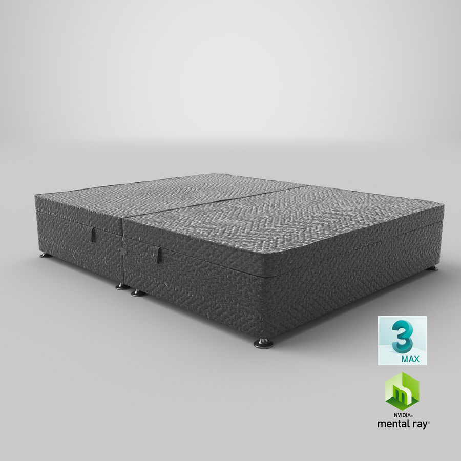 Bed Base 07 Charcoal royalty-free 3d model - Preview no. 14