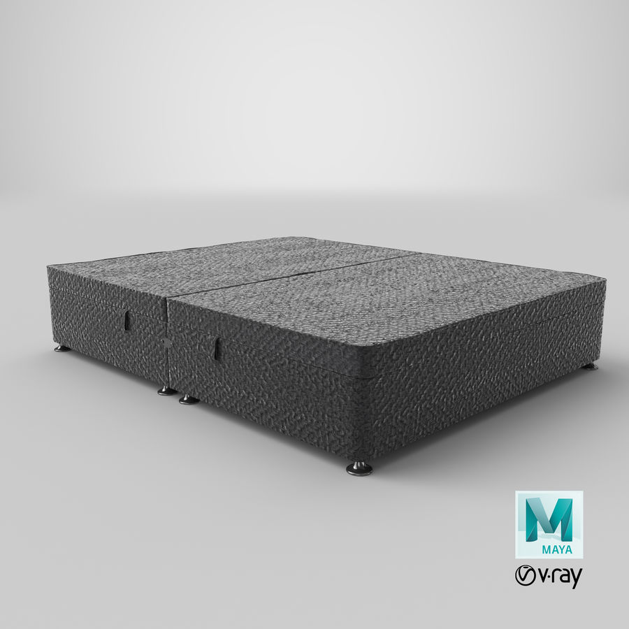 Bed Base 07 Charcoal royalty-free 3d model - Preview no. 18