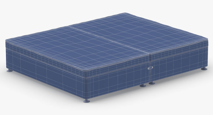 Bed Base 07 Grey royalty-free 3d model - Preview no. 14