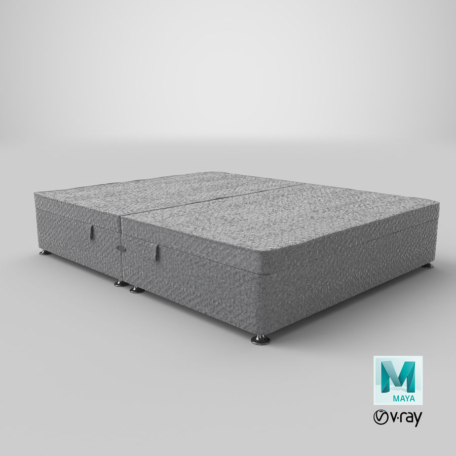 Bed Base 07 Grey royalty-free 3d model - Preview no. 28