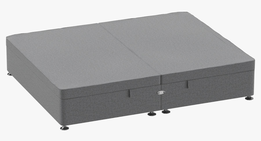 Bed Base 07 Grey royalty-free 3d model - Preview no. 2