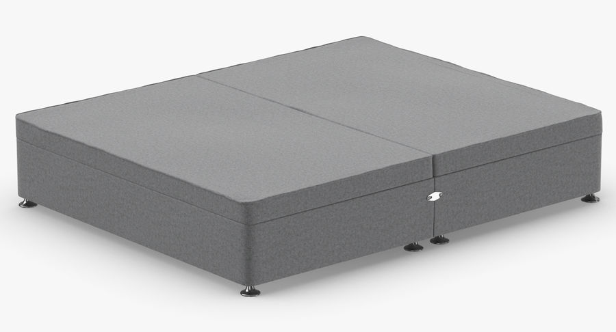 Bed Base 07 Grey royalty-free 3d model - Preview no. 6