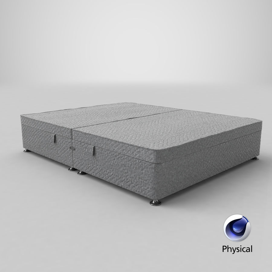 Bed Base 07 Grey royalty-free 3d model - Preview no. 21
