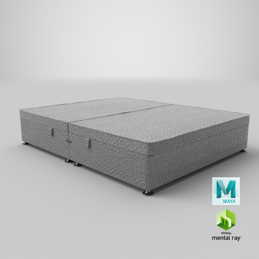 Bed Base 07 Grey royalty-free 3d model - Preview no. 27