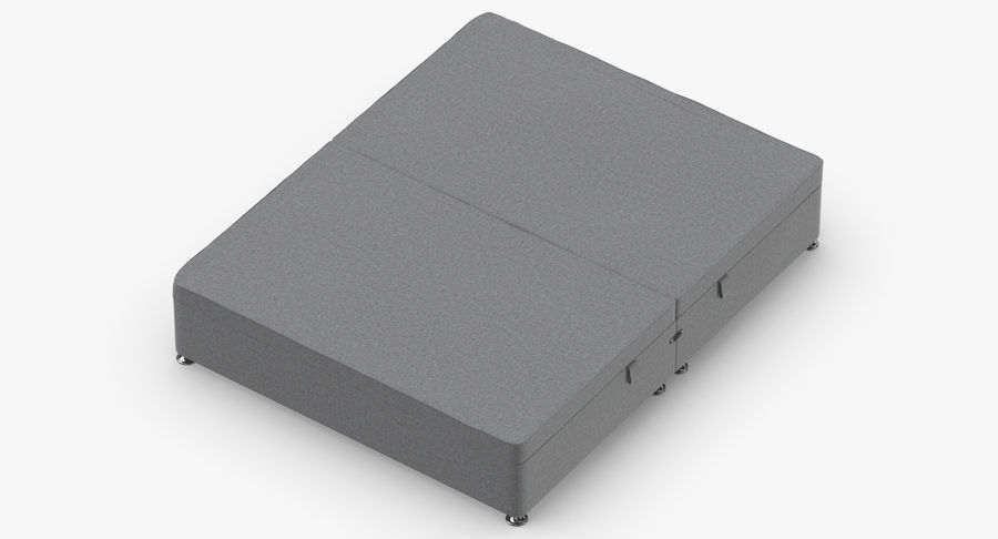 Bed Base 07 Grey royalty-free 3d model - Preview no. 7