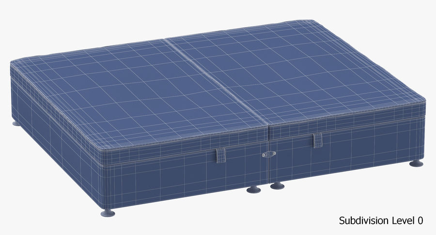 Bed Base 07 Grey royalty-free 3d model - Preview no. 18