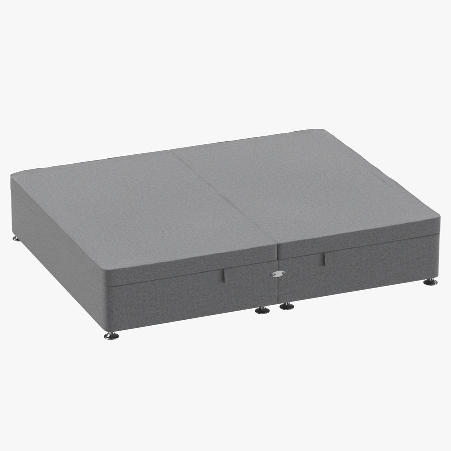 Bed Base 07 Grey royalty-free 3d model - Preview no. 1
