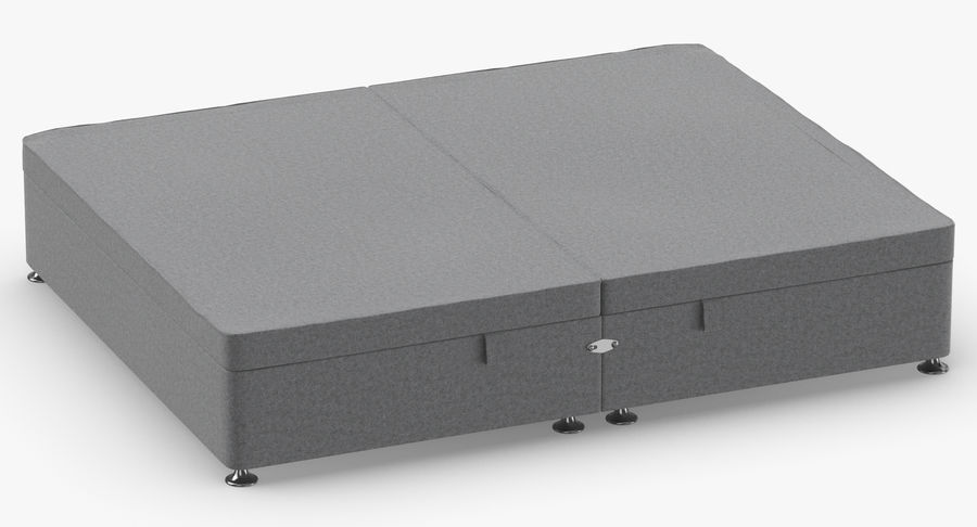 Bed Base 07 Grey royalty-free 3d model - Preview no. 3