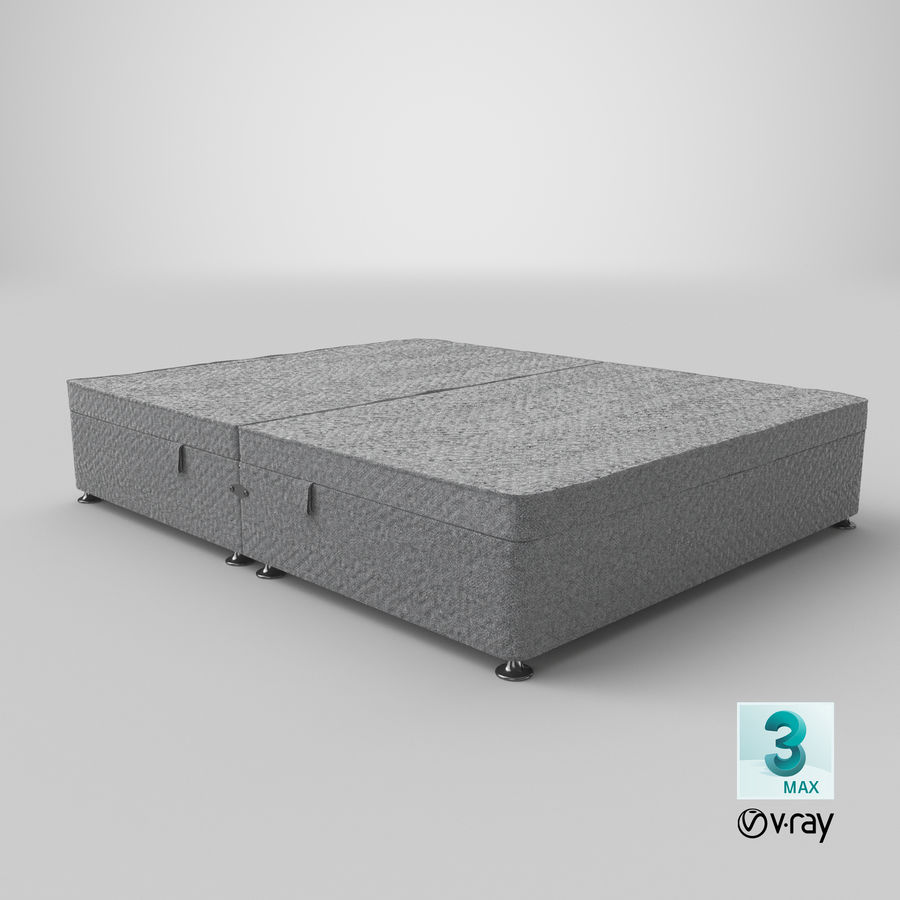 Bed Base 07 Grey royalty-free 3d model - Preview no. 25